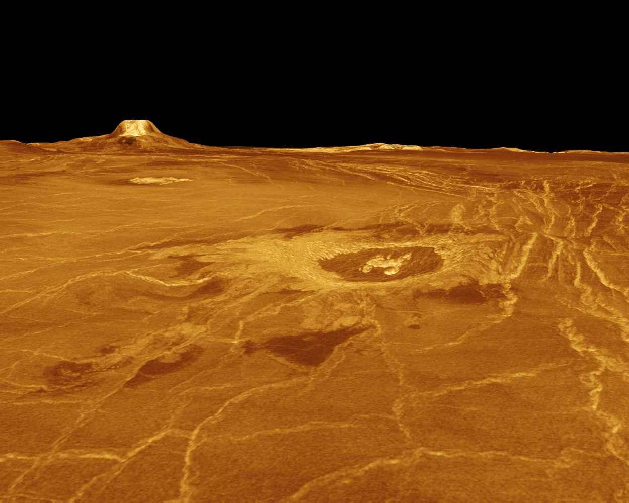 Рис 22 эстла регион на венере вдалеке