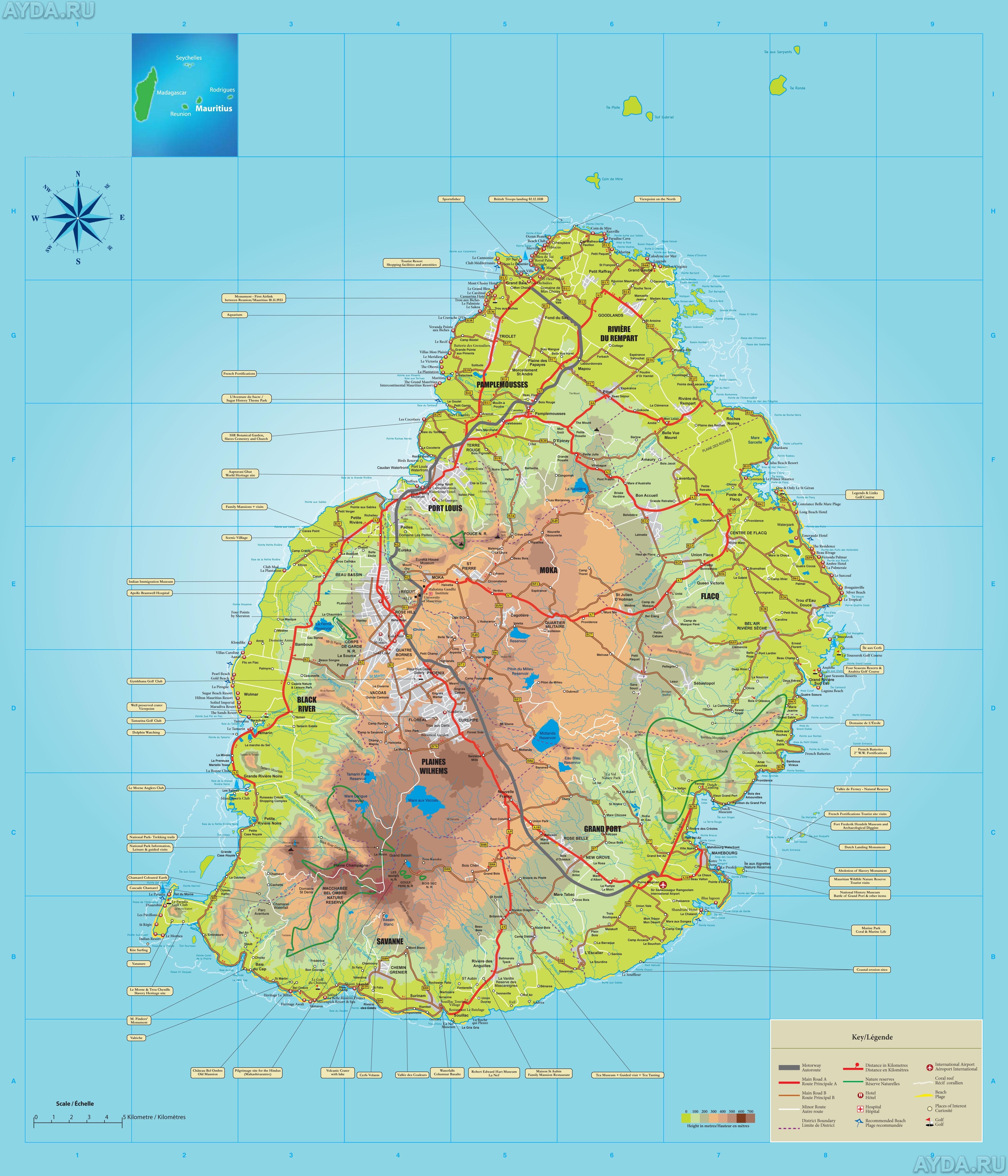 Index Of Countryafricamauritiusmaps - Africa mauritius map