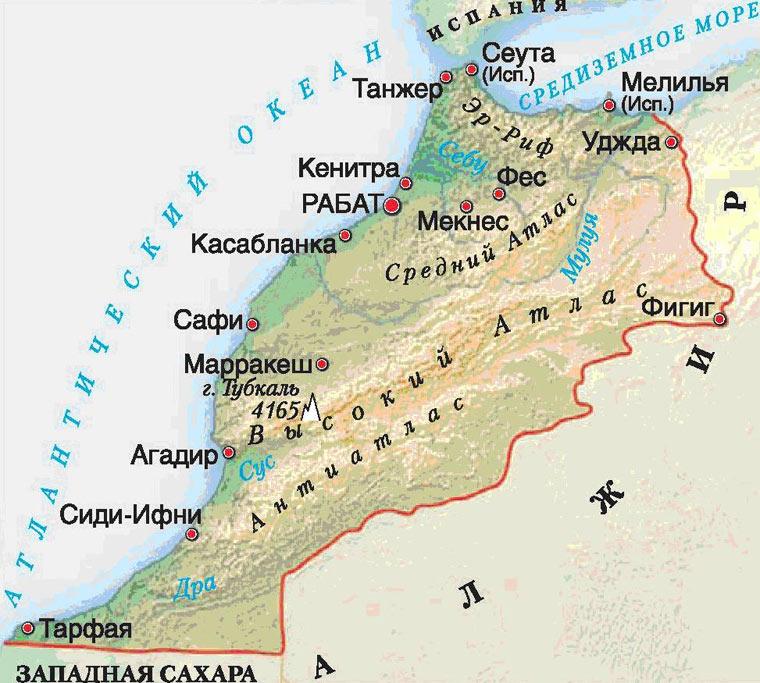его марокко на карте мира фото море всегда
