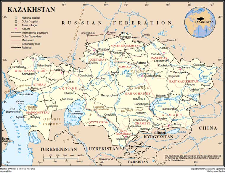 Gect Ru Politicheskie Karty Kazahstana