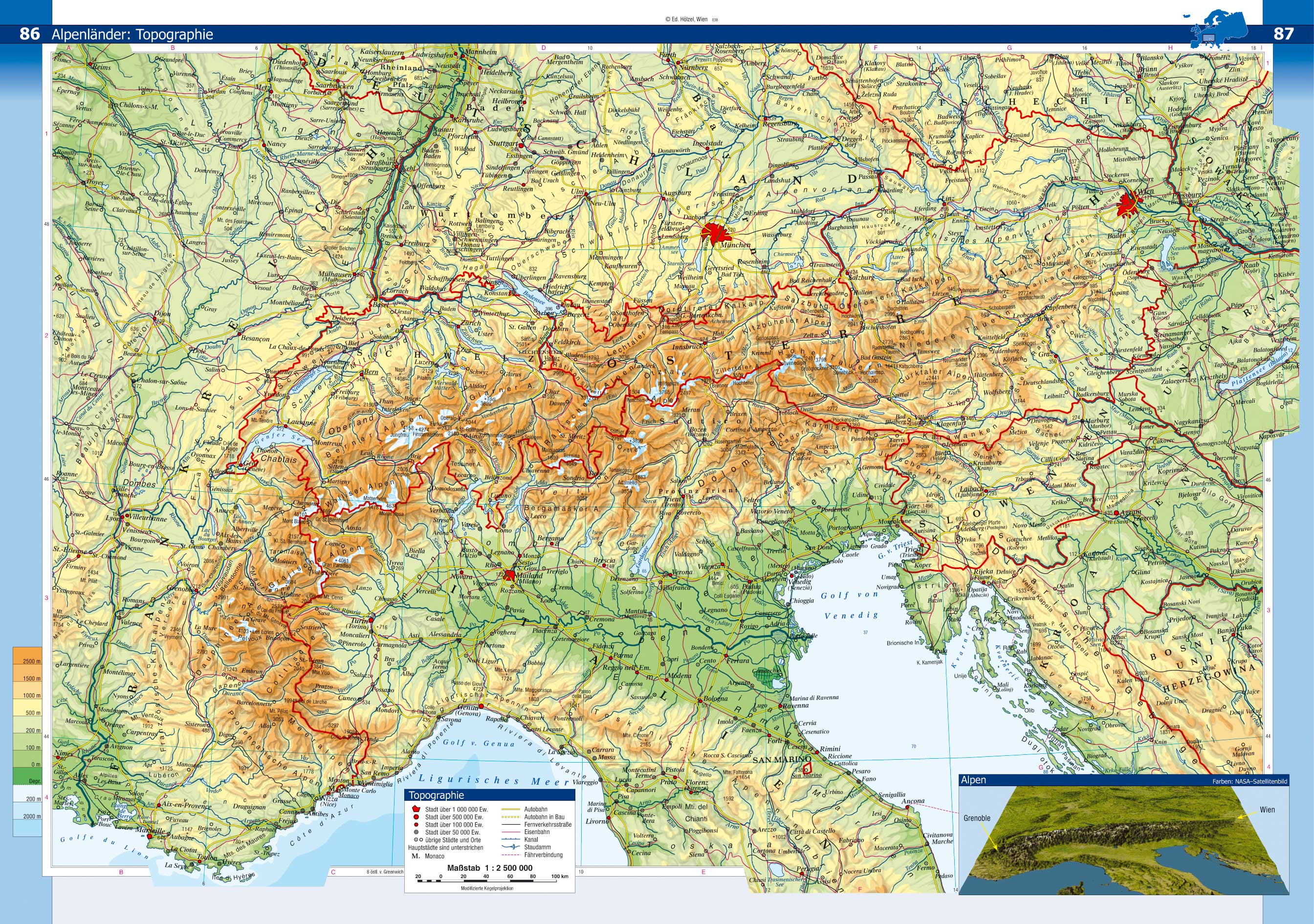 Index Of Countryeuropeaustriamaps - Physical map of austria