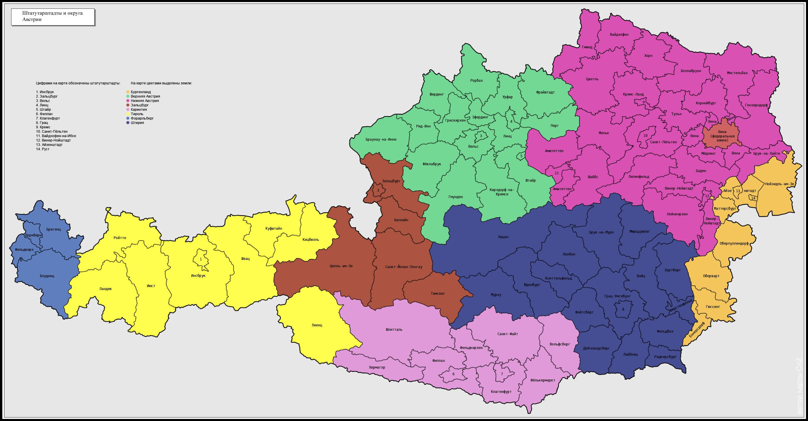 Index Of Countryeuropeaustriamaps - Austria political map