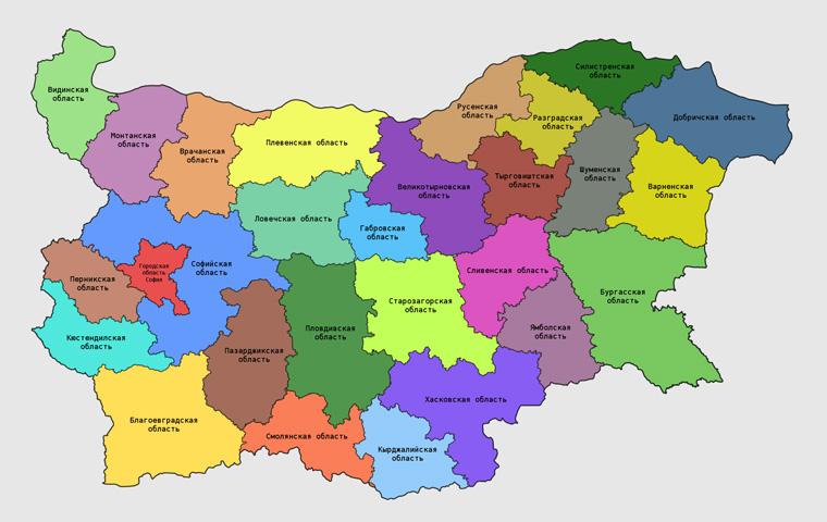 Карта болгарии подробная на русском