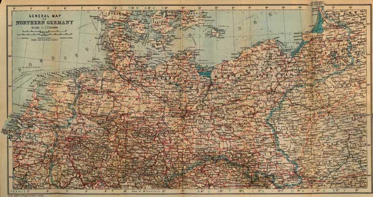 Историческая карта северной германии