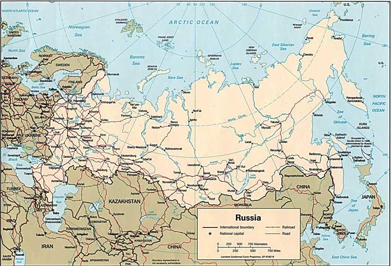 карта дорог России
