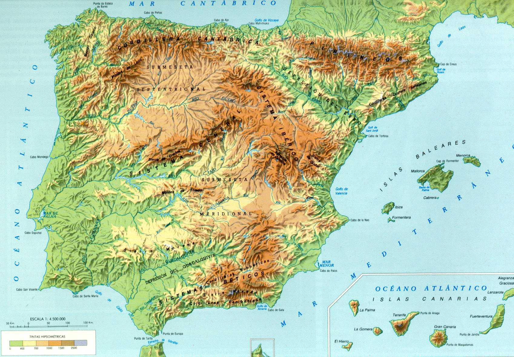 physical map of spain with Maps on Jordan in addition United Kingdom Physical Map 1987 also File Peninsula Iberica   Iberian Peninsula moreover Barcelona in addition Osterreich Karte.
