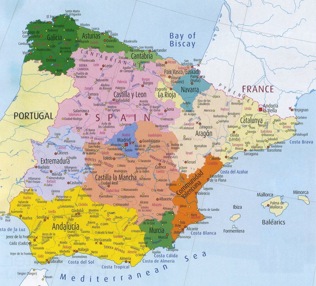Index Of Countryeuropespainmaps - Barcelona map of europe